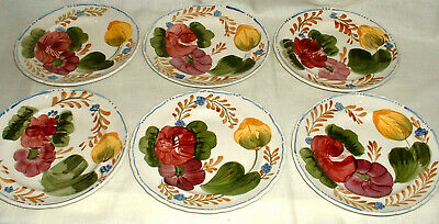 Vintage Cobridge Chanticleer Belle Fiore 6 Handpainted 7  Plates • 25£