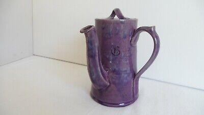 William Baron Barnstaple Pottery. Chocolate Pot. Arts And Crafts • 85£