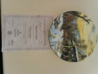 Royal Doulton Plate With Certificate Of Authenticity Homeward Bound • 3.50£
