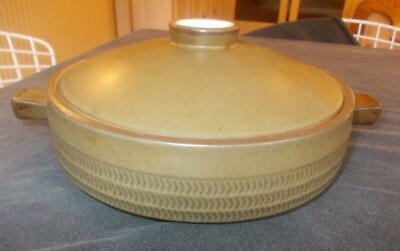 Vintage Denby Chevron Casserole Dish And Lid Gill Pemberton  12in Across. • 9.99£