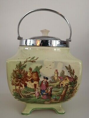 Sandland Ware Biscuit Barrel/tea Caddy, Lancaster & Sandland Ltd. • 4.99£
