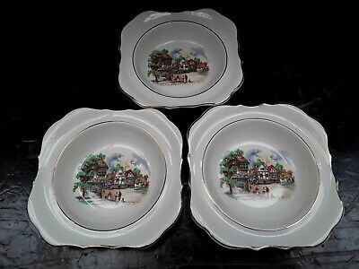 Vintage Sandland Ware  Down Somerset Way  Dishes/ Bowls X3 • 3£