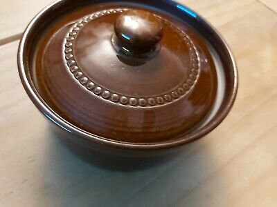Vintage Pearsons Of Chesterfield 1810 Brown Earthenware Pot & Lid  England • 5£