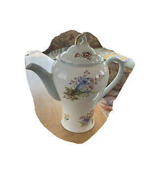 Lovely Rare Vintage Collectable Art Deco Shelley Coffee Pot Wild Flowers 13668 • 20£