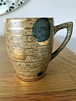 Clarice Cliff *GOLDSTONE* - Lynton Coffee Cup - *Newport Pottery* - *DELIGHTFUL* • 22£