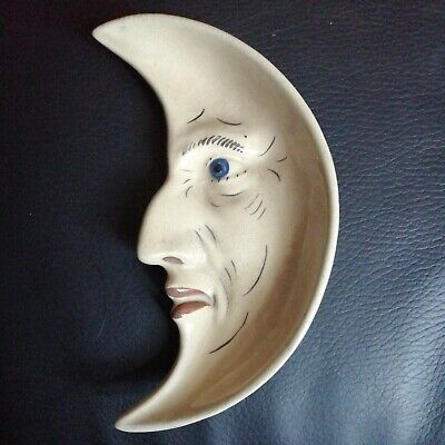 EXTREMELY RARE! Denby Man In The Moon Dish • 300£