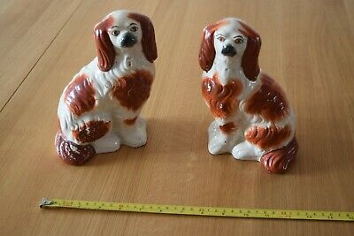 Pair Of Victorian Staffordshire Dogs • 18£