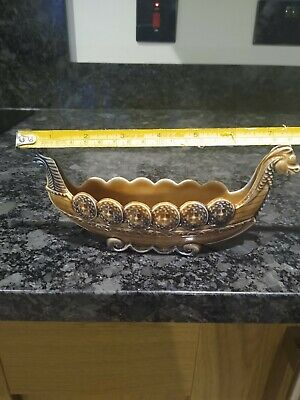 Wade Vintage Viking Ship Boat Trinket Dish Bowl • 1£