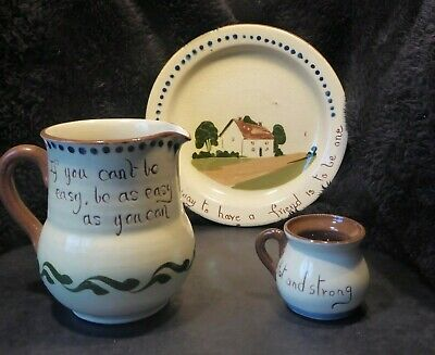 Devon Torquay Pottery Watcombe And Royal Watcombe With Mottoes • 4£