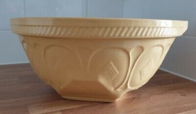 Large T G Green Gripstand Diamond Mixing Bowl Caramel & White Good Condition  • 14.99£