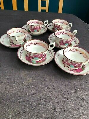 Antique Victoria & Albert Lusterware China Teacup And Saucer Set Of Six • 5£