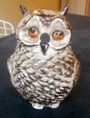 Vintage Babbacombe Pottery Hand Painted Owl String Dispenser  5.5in  Ht. • 4.99£