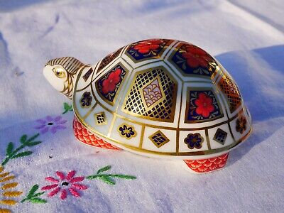 Royal Crown Derby Tortoise Paperweight - Silver Stopper • 8.50£