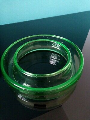 Vintage Green Glass Flower Posy Ring/Bowl • 7£