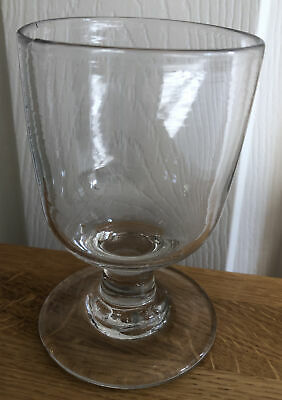 Good Large Antique Georgian Glass Hand Blown Rummer Drinking Glass Clear Pontil • 9.99£