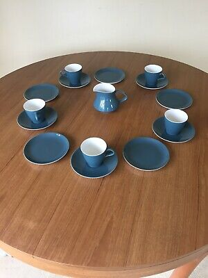 Poole Pottery China Tea Service, Two Tone Blue And White • 7.50£