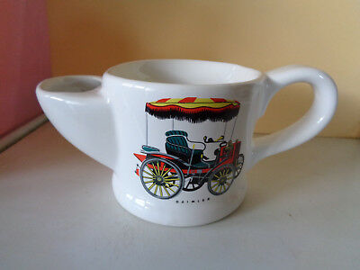 Wade Ceramic White Shaving Mug With Picture On Front Of Vintage Daimler Car. • 3.99£