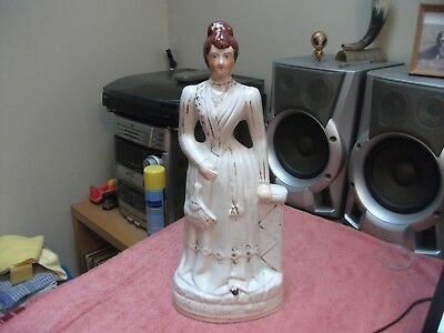 Princess May Queen Mary Staffordshire Figurine 15  Very Collectable Some Damage • 8.99£