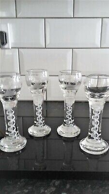 C1900 Schnapps Glasses Airtwist Set Of 4 • 75£