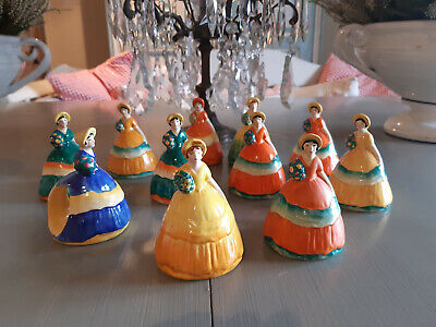 11 Vintage Carlton Wear Crinoline Lady Napkin Holders. Perfect Condition • 25£