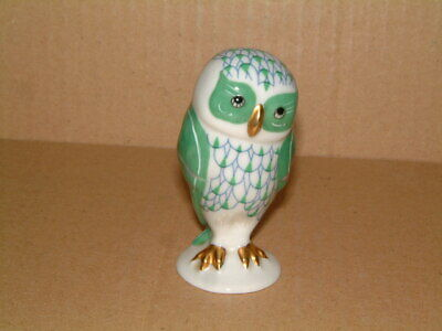 Franklin Mint - Herend Style Owl Collectable Green Fishnet 1988 • 12£