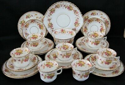 Delightful Large Antique 29 Piece Bone China Tea Set By Stanley China • 49.95£