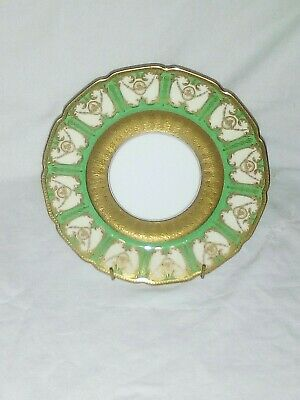Royal Doulton Antique Green &  Gold Encrusted Cabinet Plate 1920 / 1930  • 12.99£