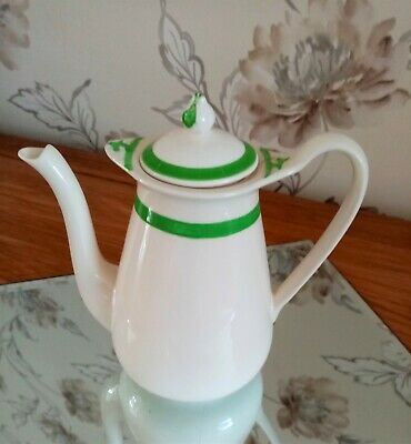 Queens Green Solian Ware 7 Inch High Coffee Pot No Visible Chips Or Cracks • 12£