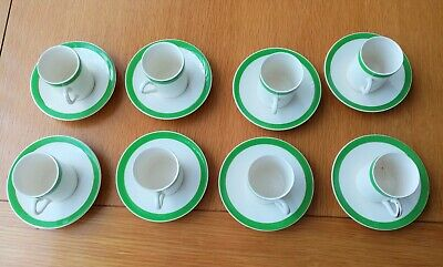 Queens Green Solian Ware 8 X Coffee Cups And 9 Saucers  • 17£