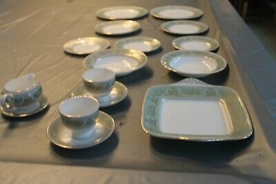 16pce Wedgwood China Dinner/Tea Service Columbia Sage Green Excellent Condition • 175£