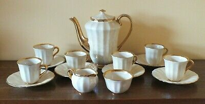 SIP IN STYLE! • Full Coffee Set For 6 • Demitasse / Espresso! VINTAGE 1950s WADE • 30£