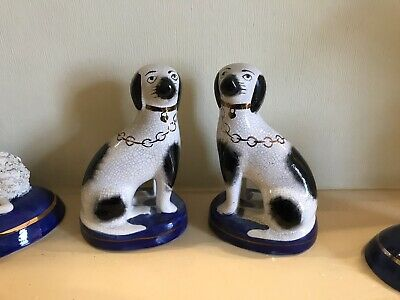 Vintage Pair Of Staffordshire Dogs • 25£