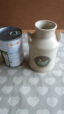 Small Stoneware Pot Decorated With Chickens • 4.99£