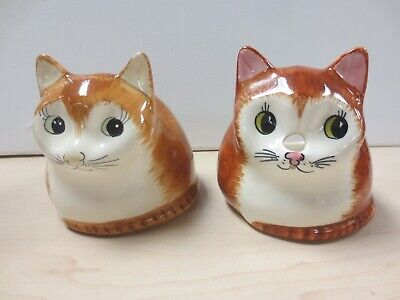 Vintage Babbacombe Devon Pottery Ginger Cats String Holder And Money Box D5 • 5£