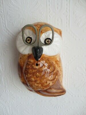 Vintage Ceramic Owl String Dispenser Wall Mount • 10£