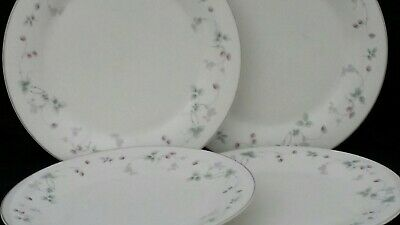 Royal Doulton Expressions Strawberry Fayre 4 Dinner Plates 10½ . Used • 6.50£