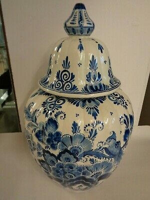 Delft Blue & White Ginger Jar - Hand Painted - Made In Holland • 70£