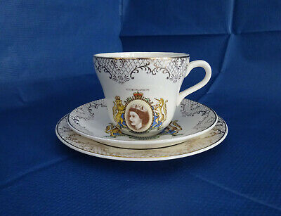 China Trio - Cup, Saucer & Side Plate - Queen Elizabeth II 1953 Coronation  • 9.99£