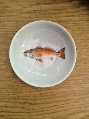 Jersey Pottery Dipping Bowl, Red Drum, Brand New • 7£