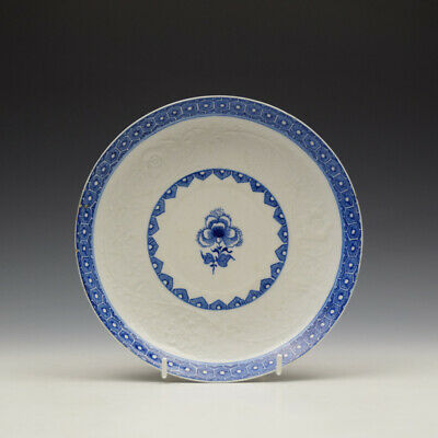 Rare Bow Moulded Floral Pattern Saucer Dish C1760-65 • 195£