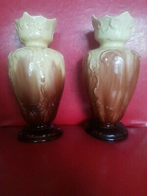 Matching  Pair Of Old Vases • 10£