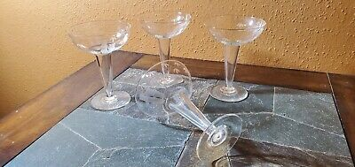 Bamboo Pattern Hollow Stem Champagne Glasses Goblets 5 1/8  Set Of 4 • 29.25£