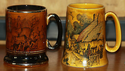 Two Vintage Pottery Tankards  • 5.99£