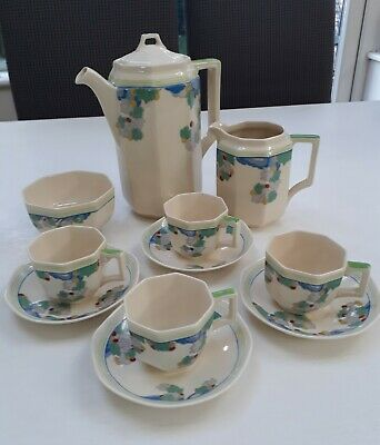 ART DECO ROYAL DOULTON  WYNN  PATTERN (D5501) Coffee Set For 4 Persons.  • 45£