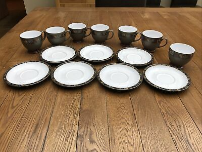 Set Of Six Denby Marrakesh Tea Cups, Saucers And A Sugar Bowl Used • 5£
