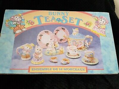 Vintage 1994 Mercuries Childs Bunny Teaset 14 Pieces (read Description) • 30£