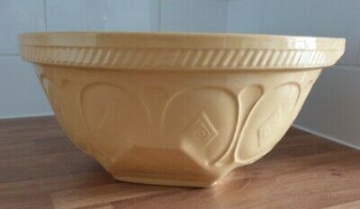 Large T G Green Gripstand Diamond Mixing Bowl Caramel & White Good Condition • 9.99£