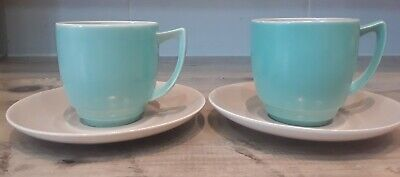 2x Branksome China Coffee Cup And Saucer 1950 • 9.99£