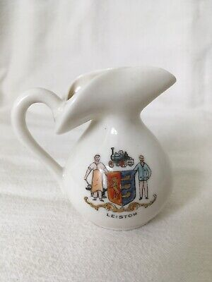 GEMMA Crested China Unusual Jug Crest Of LEISTON Collectable • 12.85£