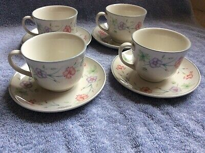 Boots Carnation Pattern Tea Cups And Saucers • 4.50£